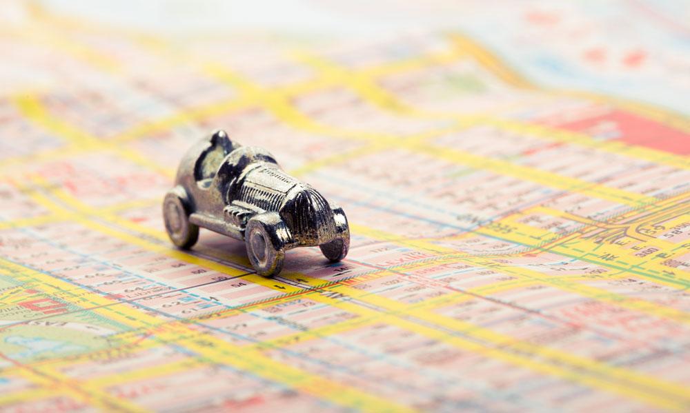 Wyświetlanie tras i obiektów monitoring GPS Guardian
